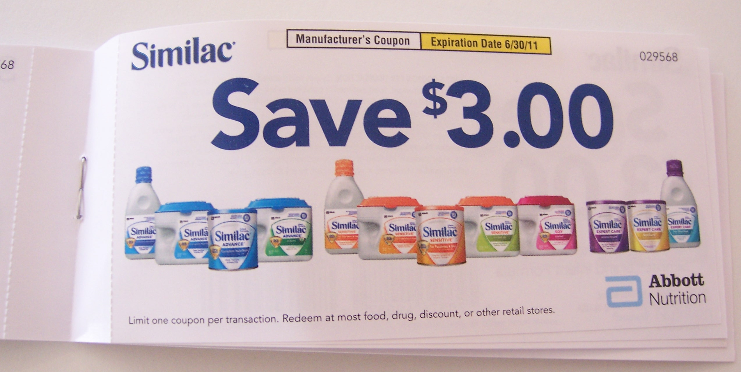 Giveaway: $30 Similac Coupon Book | Living Rich With Coupons®Living - Free Printable Similac Sensitive Coupons