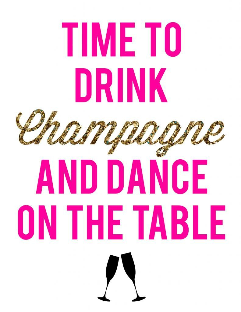 Glam Bachelorette Party + Free Party Printables! | La Petite - Free Printable Bachelorette Signs