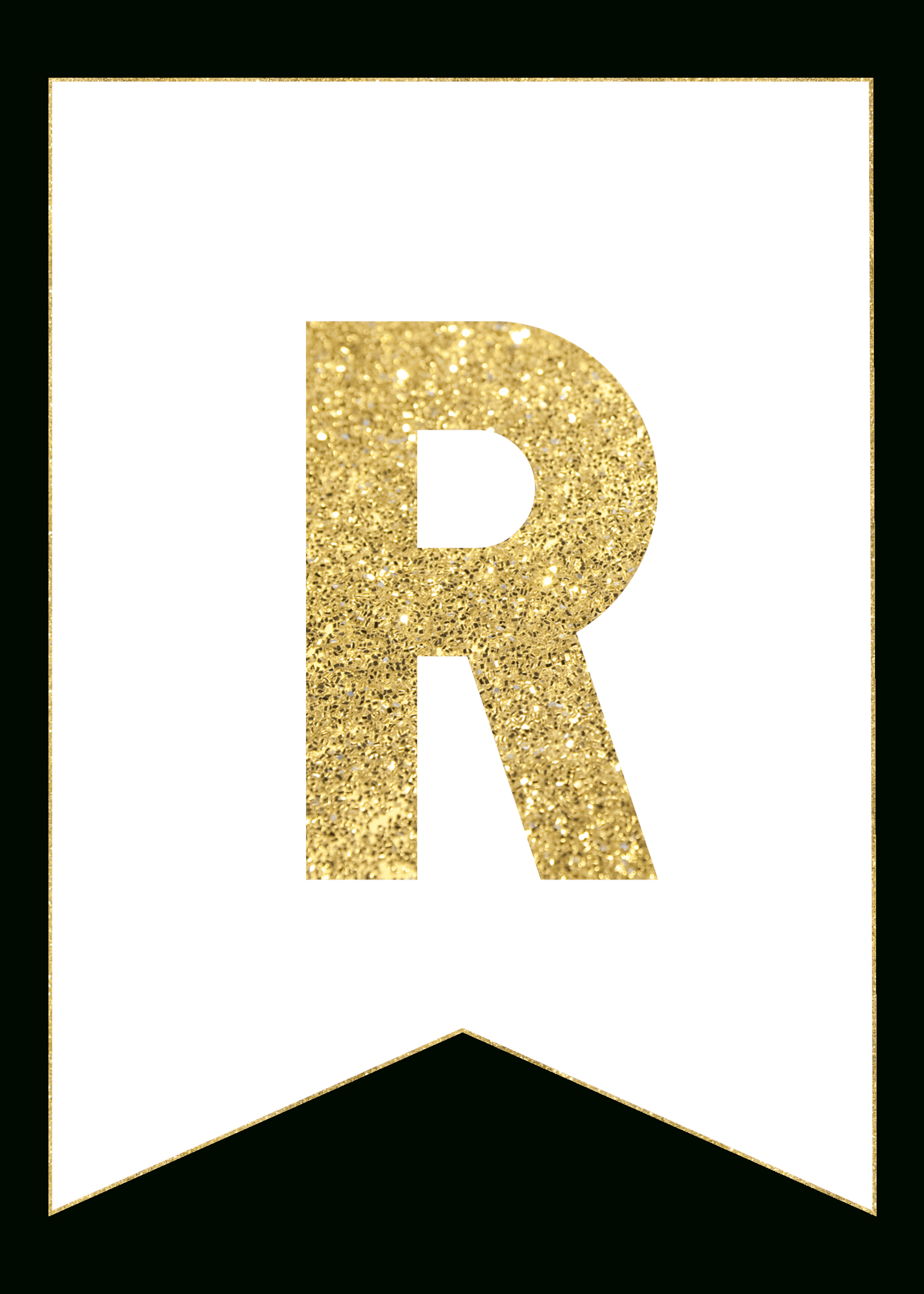 Gold Free Printable Banner Letters | Rolas Party | Free Printable - Free Printable Banner Letters