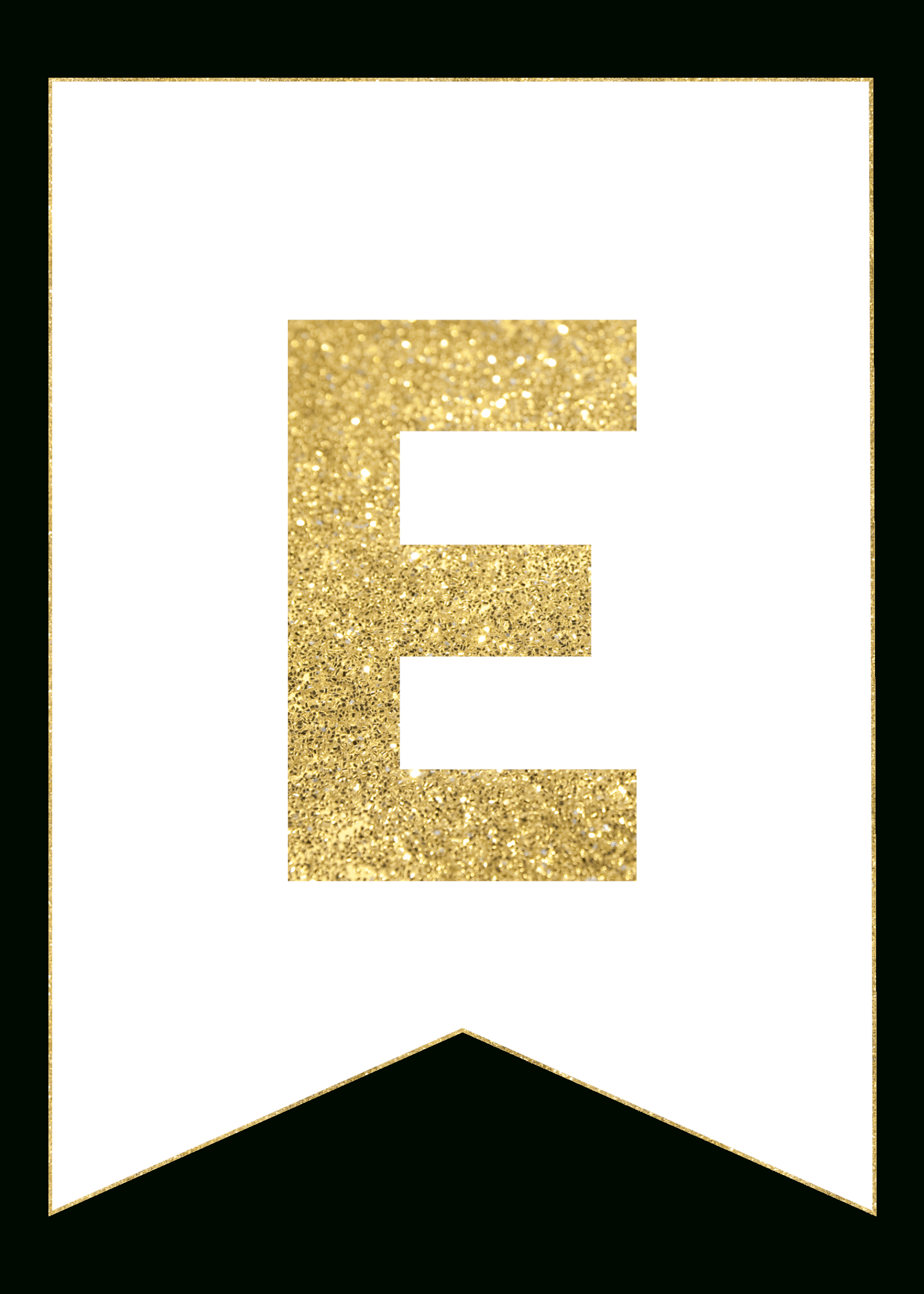 Gold Free Printable Banner Letters | Templates | Pinterest - Free Printable Banner Letters