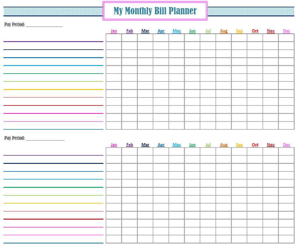 Gold Project Bill Planner | Coo L Stuff | Bill Calendar, Bill - Free Printable Weekly Bill Organizer