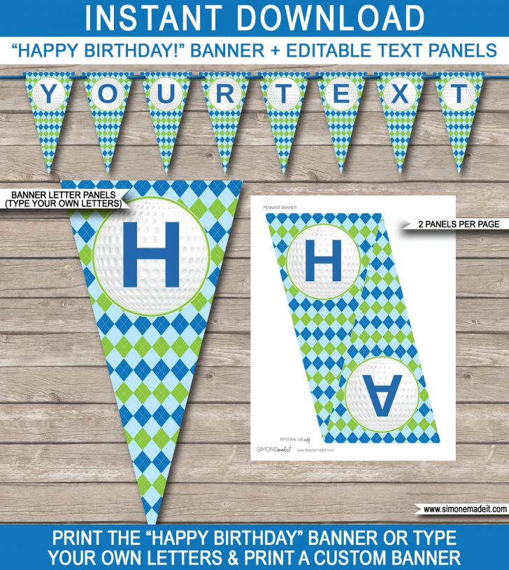 Birthday Banner Templates Free Printable