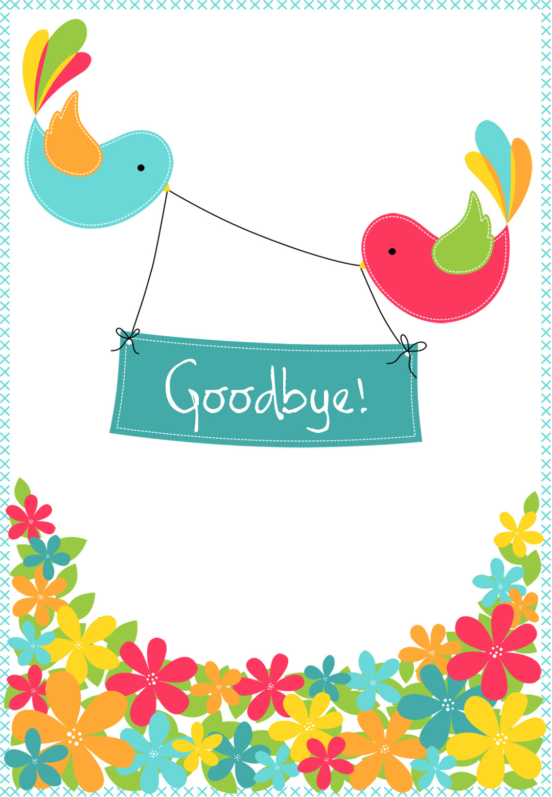 Goodbye From Your Colleagues - Free Good Luck Card   Greetings Island - Free Printable We Will Miss You Greeting Cards