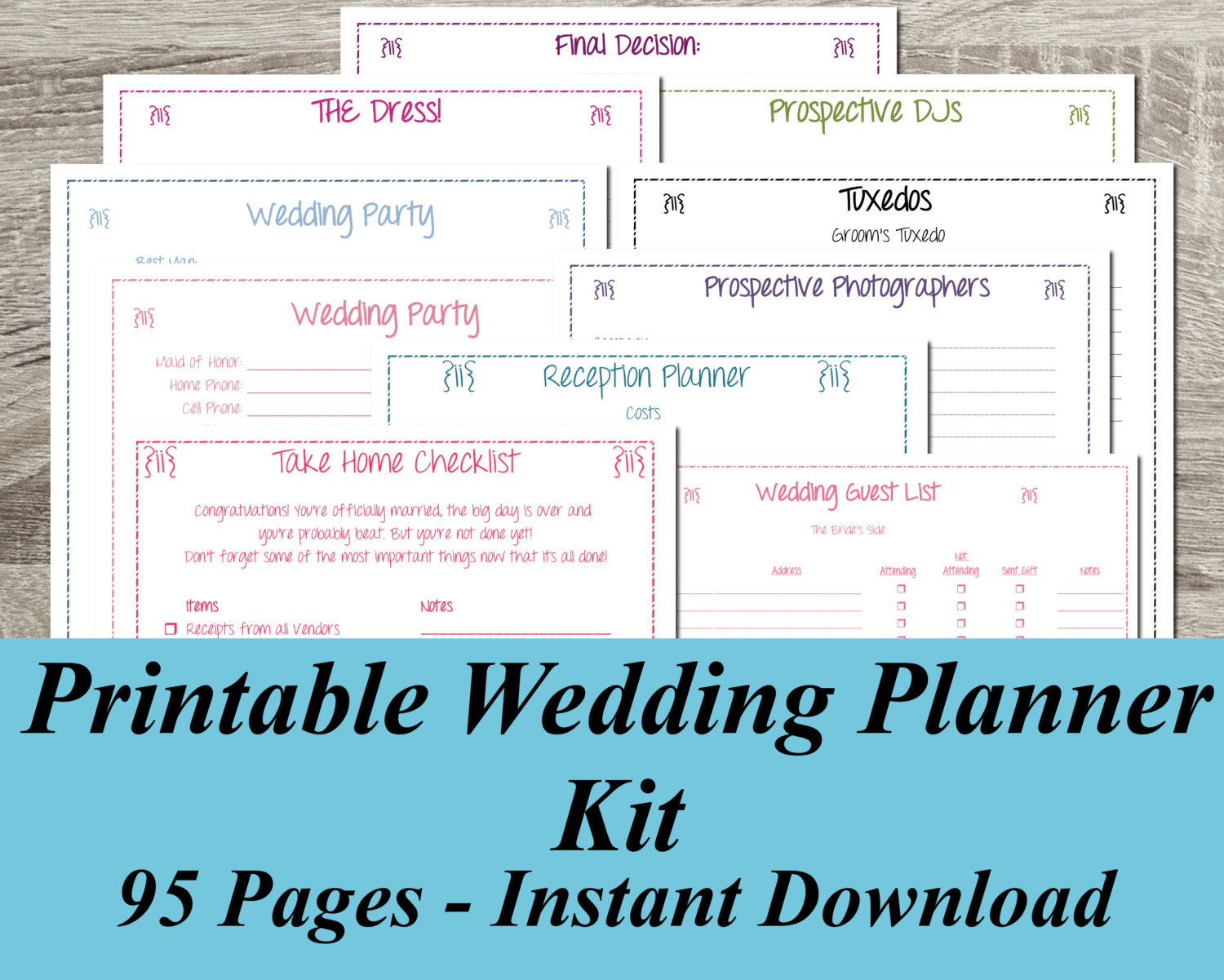 Gorgeous Free Wedding Planning Book 7 Free Printable Wedding Planner - Free Printable Wedding Planner Forms