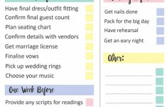 Grab This Free Printable Last Minute Wedding Checklist | Bespoke – Free Printable Wedding Checklist