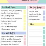 Grab This Free Printable Last Minute Wedding Checklist | Dream – Free Printable Wedding Planner Pdf