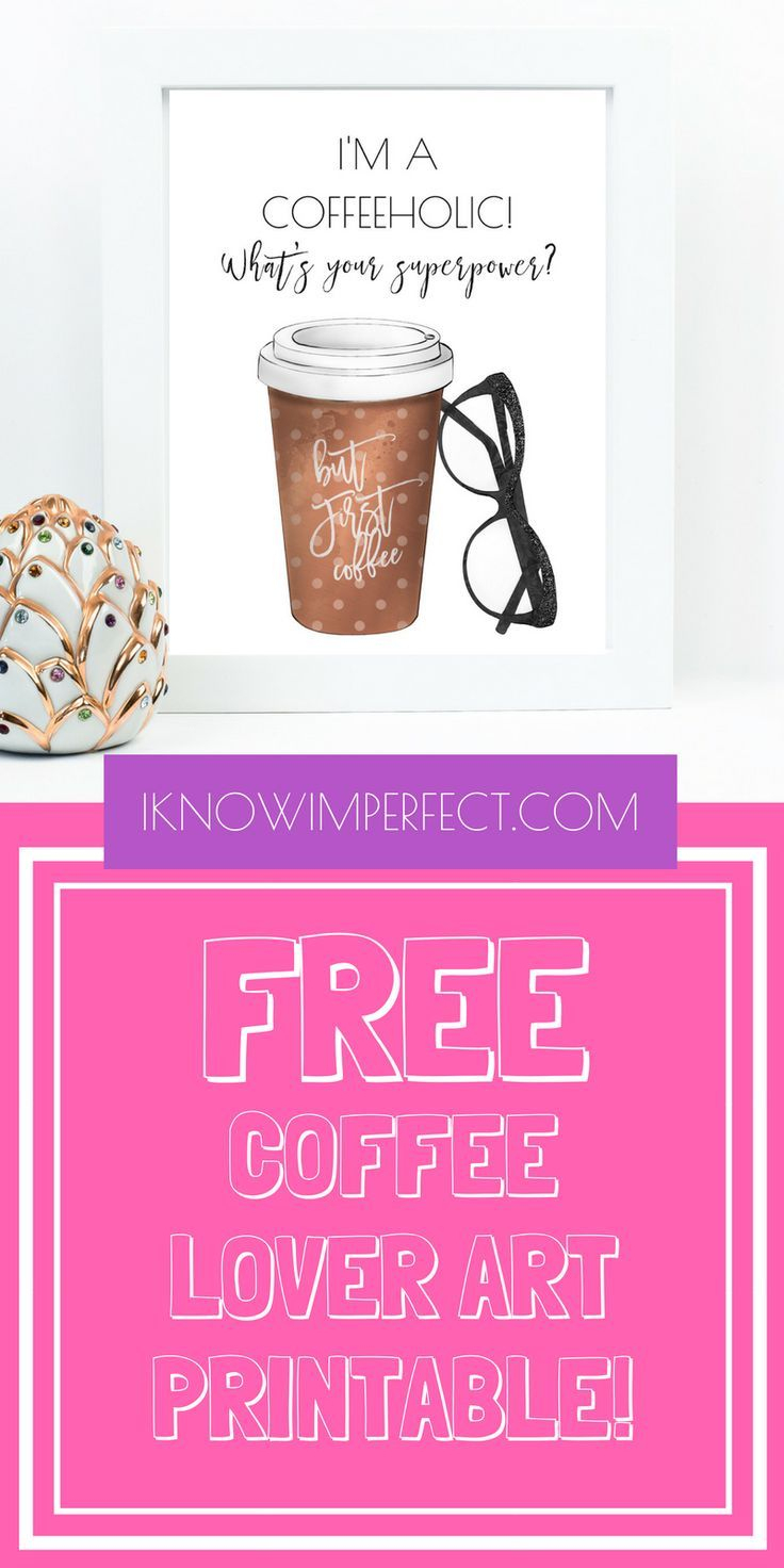 Grab This Gorgeous And Sassy Free Coffee Lover Art Printable Here - Free Coffee Printable Art