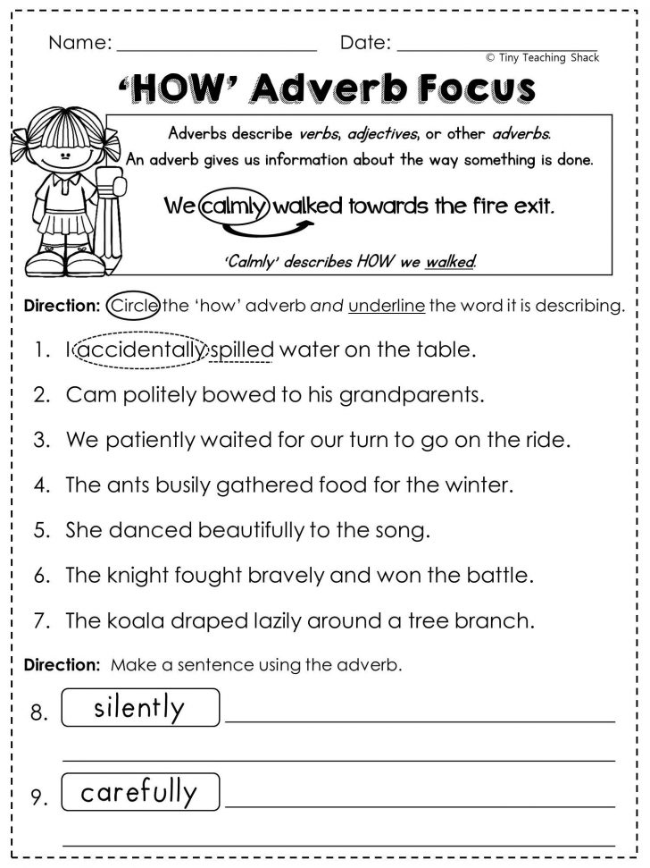 Year 2 Free Printable Worksheets