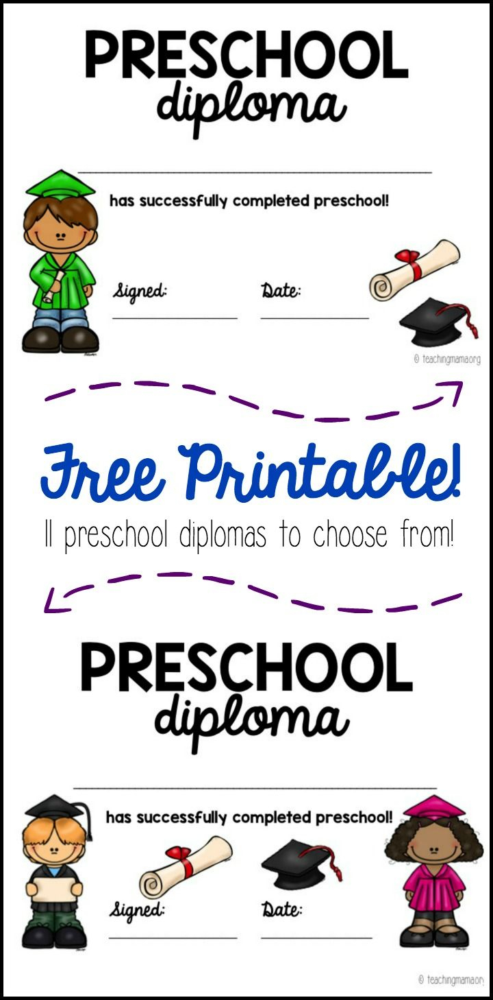 Graduation Diploma Free Printable Preschool Homeschool - 17.13 - Preschool Graduation Diploma Free Printable