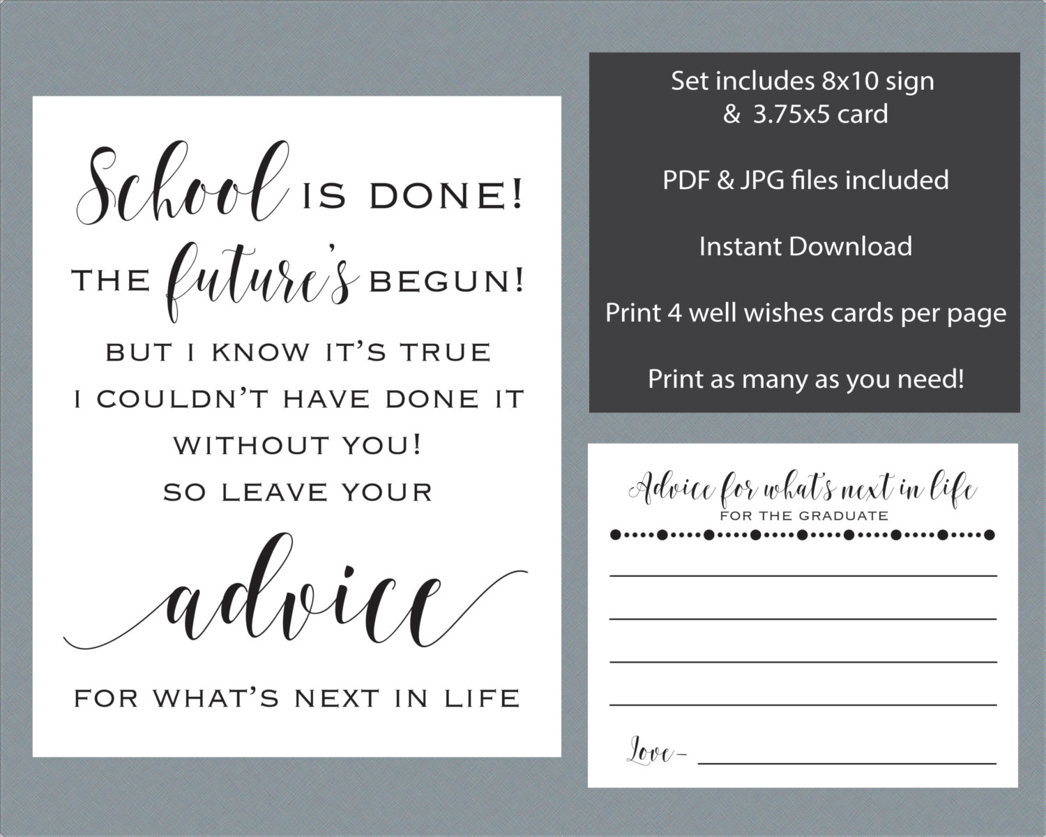Graduation Wishes Advice Cards Template - 28 Images - Advice Cards - Free Printable Graduation Advice Cards