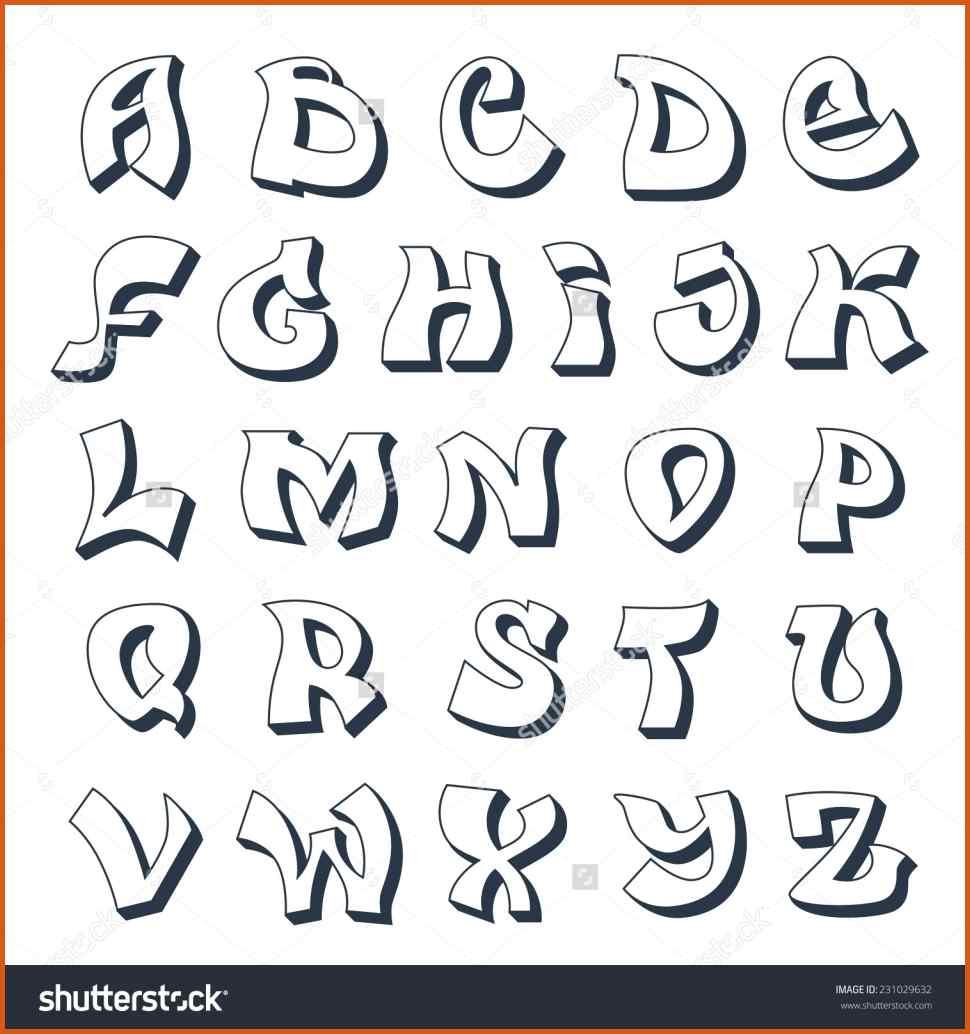 Graffiti Alphabet Letters Az Amazing Free Printable Styles Letter - Free Printable Graffiti Letters Az