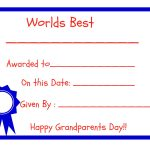 Grandparents Day   Free Printables!   Grandparents Certificate Free Printable