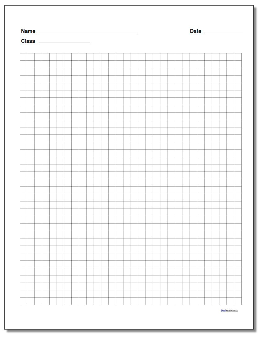 Graph Paper - Free Printable Graph Paper With Numbers