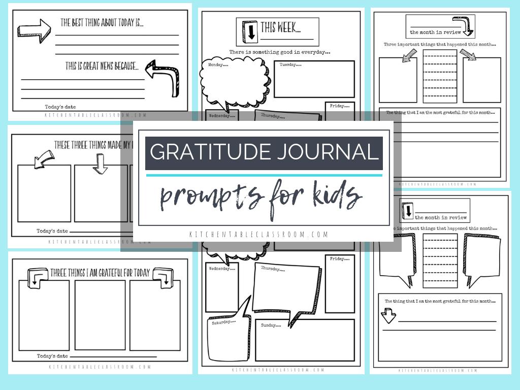 Gratitude Journal Prompts- Free Printable Gratitude Journal - Free Printable Gratitude Worksheets