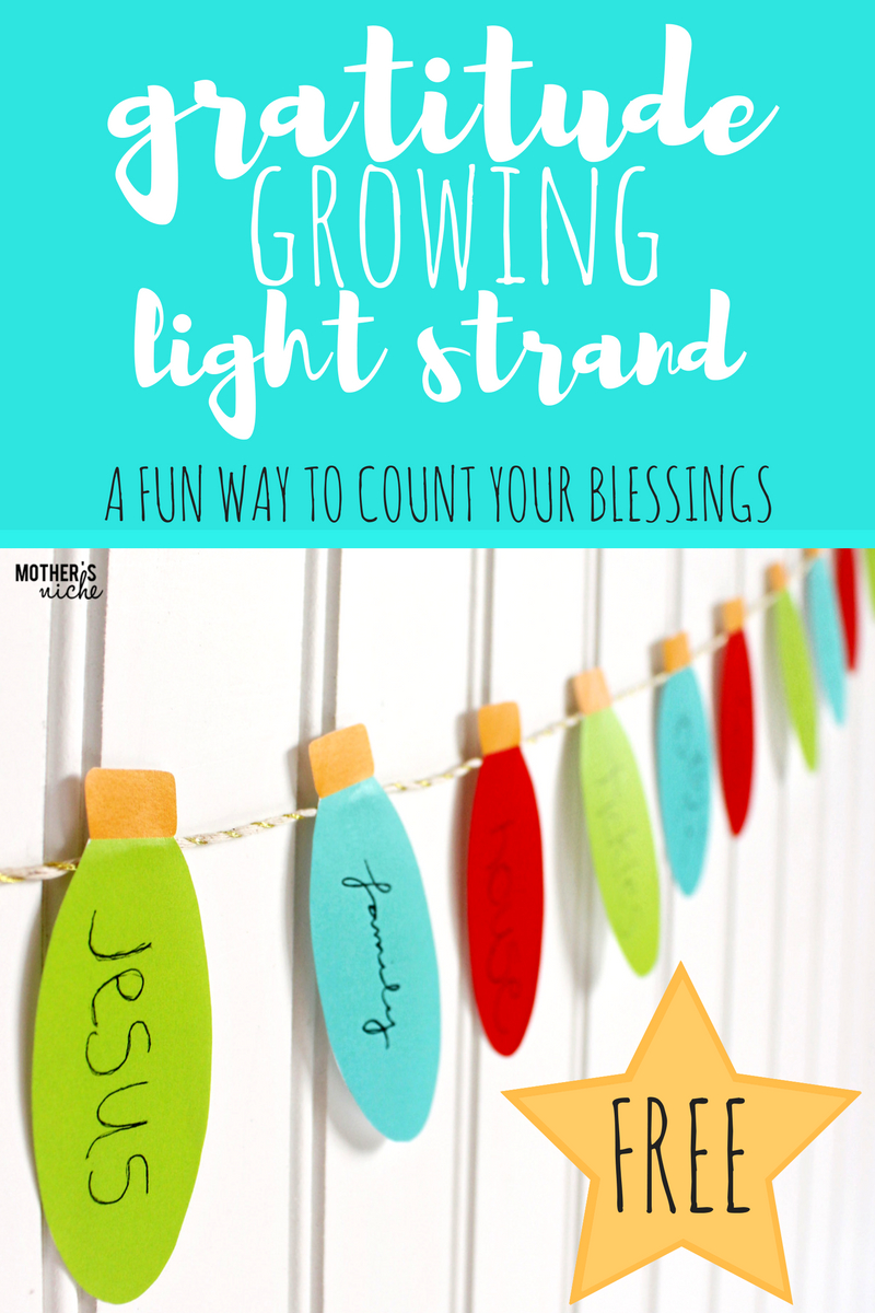 Gratitude Lights For Christmas: Decorations With Meaning That Grow - Free Printable Christmas Decorations