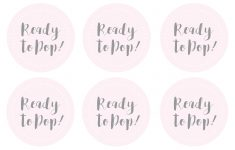 Great Ready To Pop Template Images Gallery. Baby Shower Label – Ready To Pop Free Printable