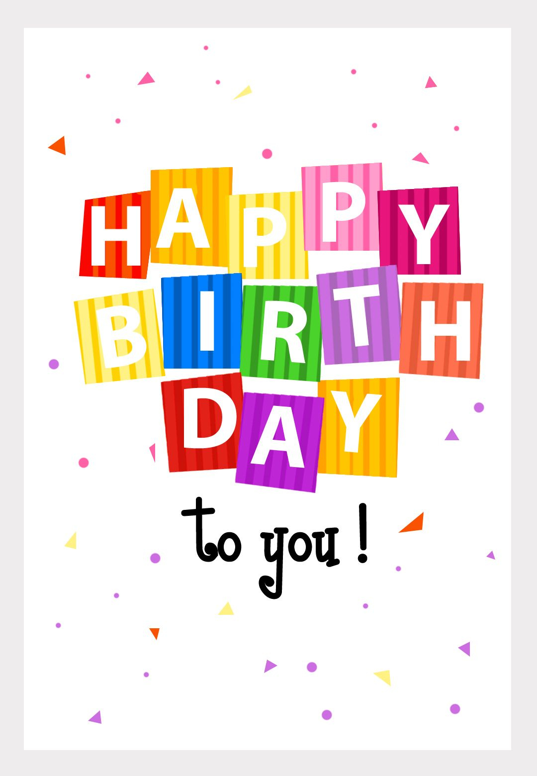 Great Website! No More Buying Greeting Cards. Personalize And Even - Free Printable Personalized Birthday Cards