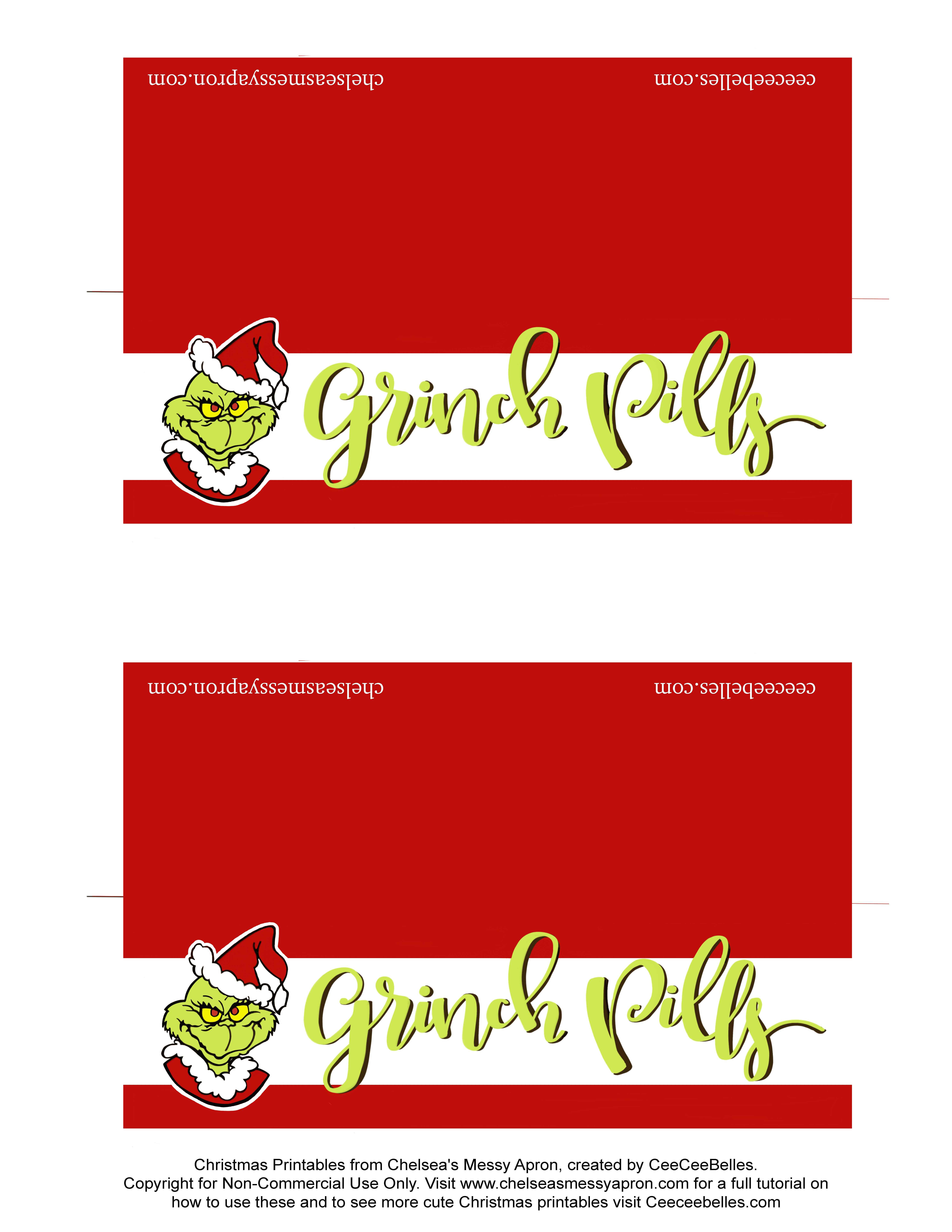 Grinch Pills   Christmas Gifts And Free Printables   6 Of The - Grinch Pills Free Printable