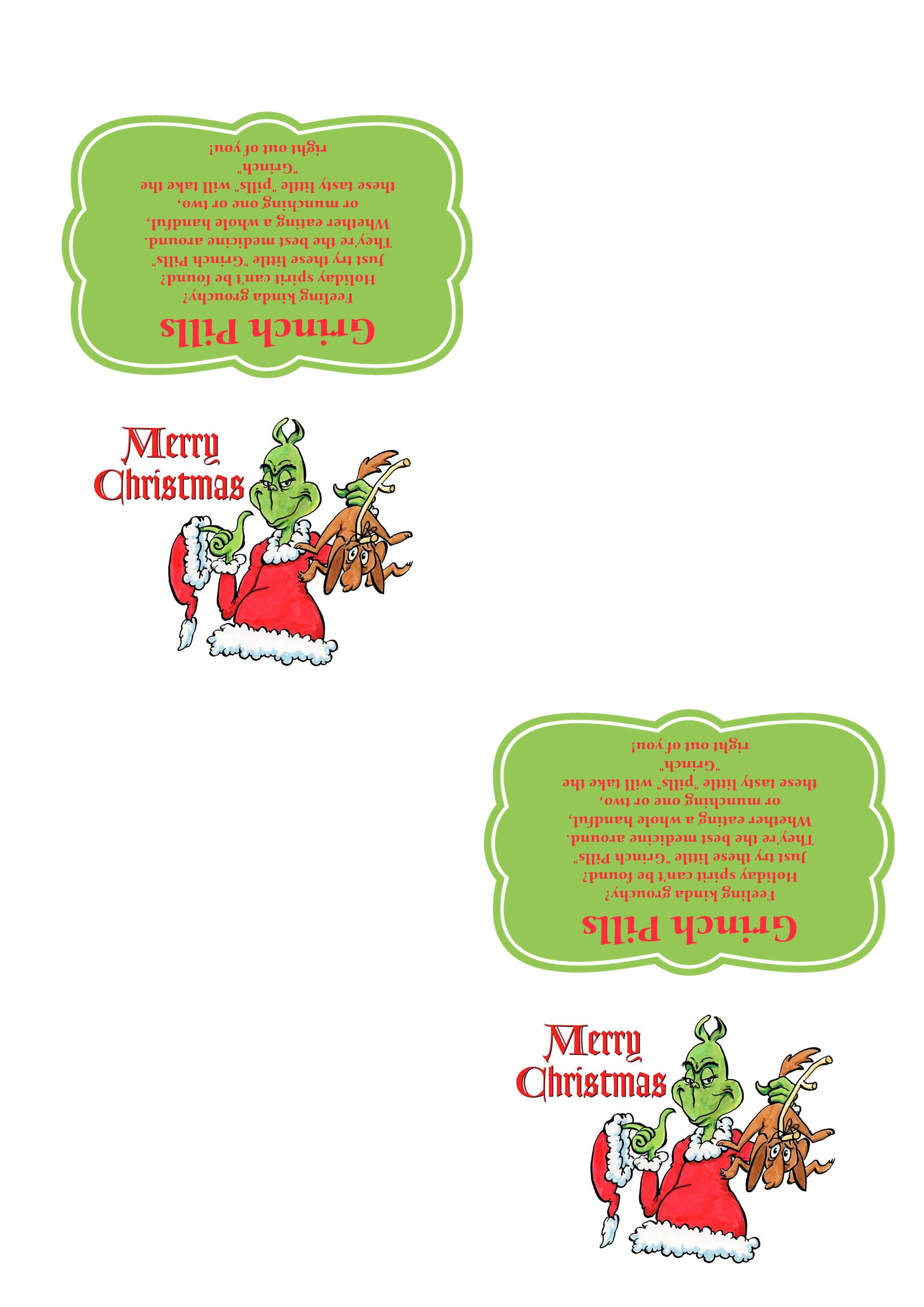 Grinch Pills - Template - 300 Dpi - Ready To Print.   Crafts - Grinch Pills Free Printable