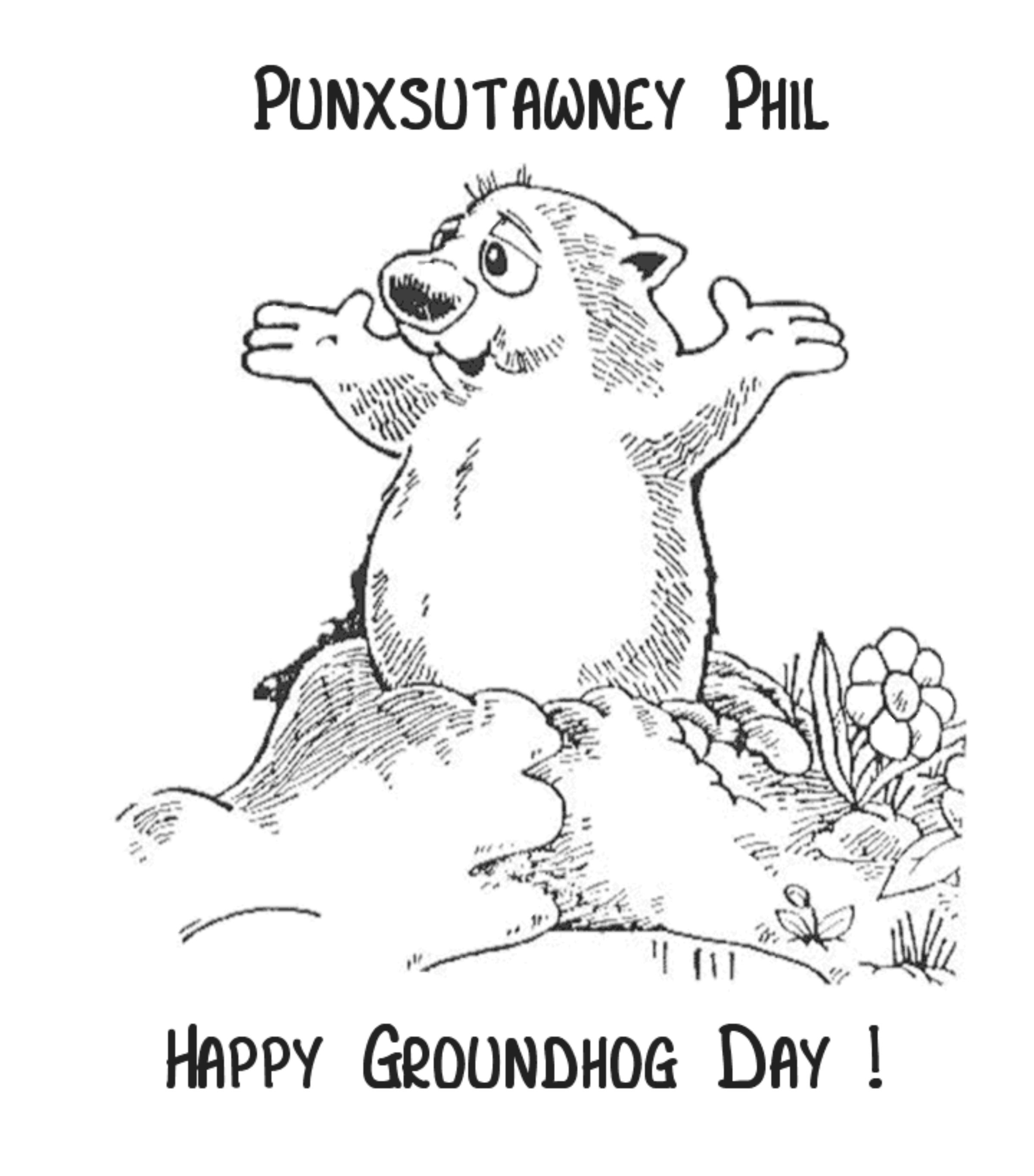 Groundhog Day Coloring Pages Free Printable - Coloring Home - Free Printable Groundhog Day Booklet