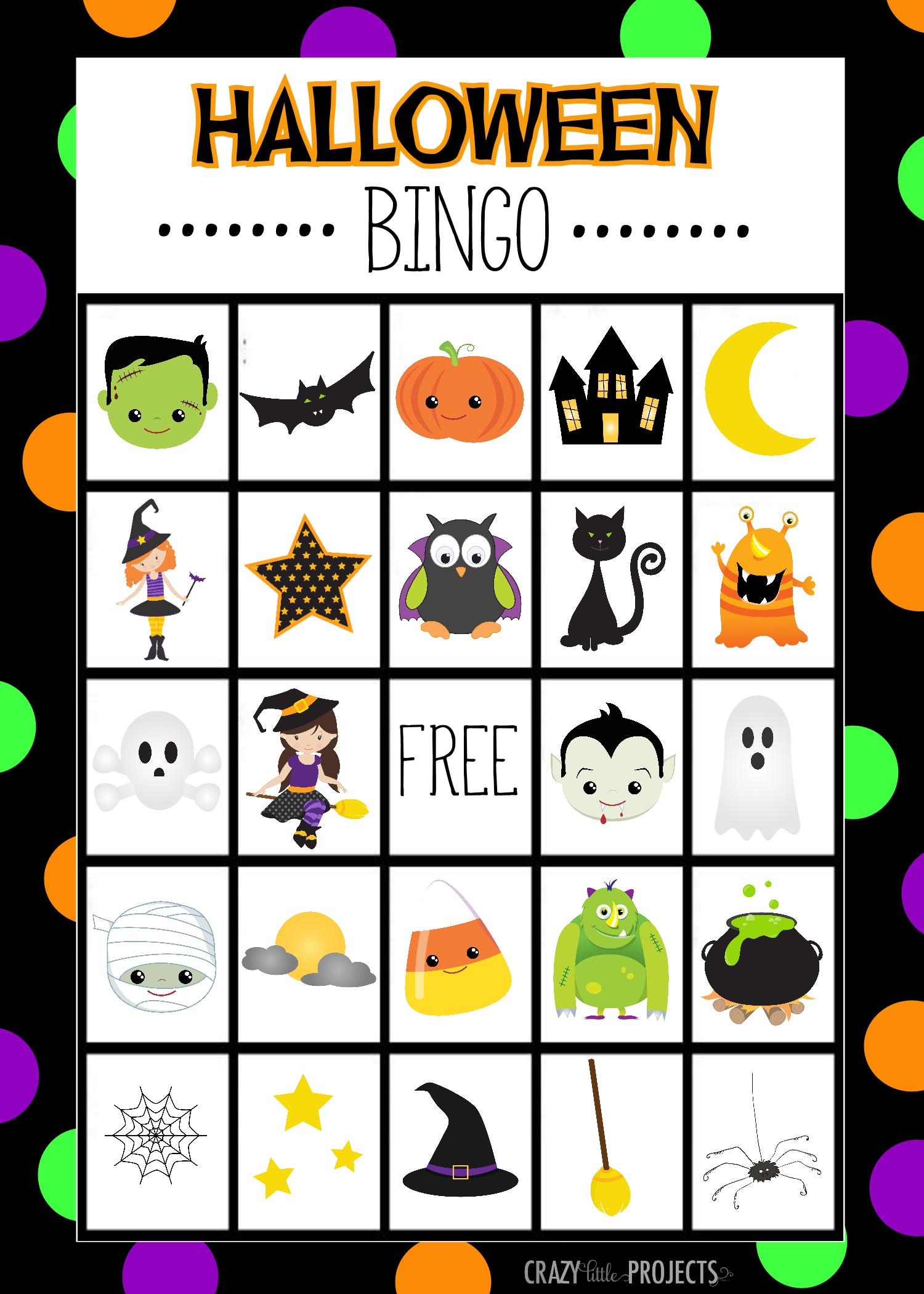 Halloween Bingo - Cute Free Printable Game   Halloween   Pinterest - Free Printable Halloween Bingo Cards