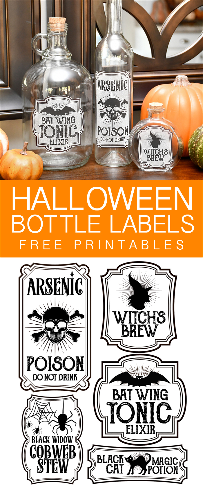 Halloween Bottle Labels - Free Printables - Potions Labels - Free Printable Halloween Bottle Labels