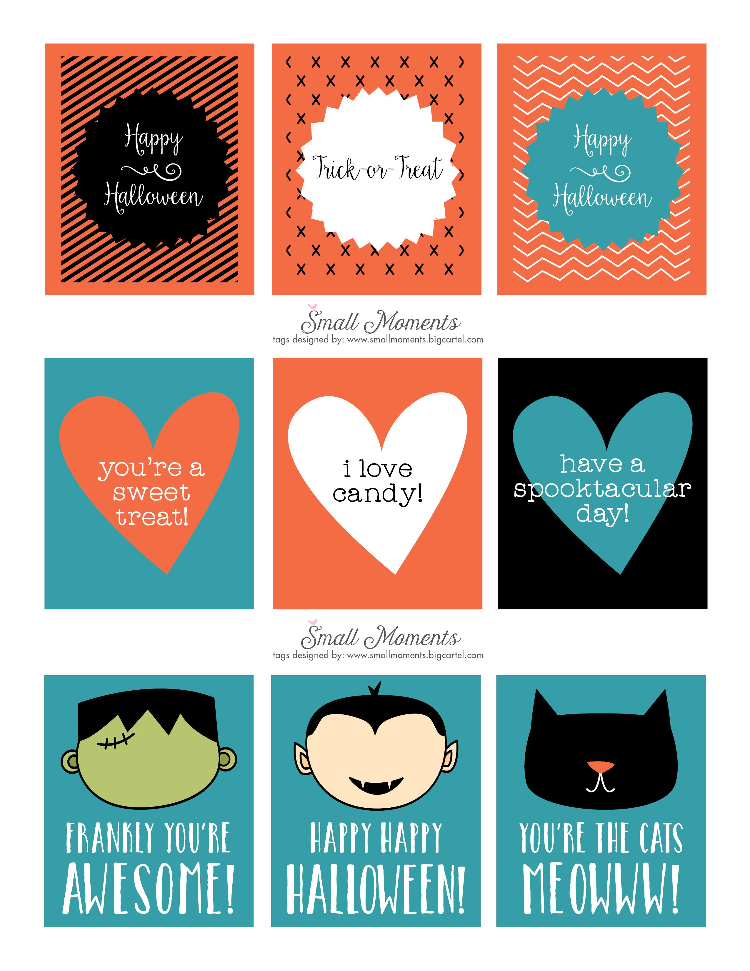 Halloween: Free Printable Tags - See Vanessa Craft - Free Printable Tags