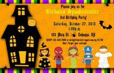 Free Printable Halloween Birthday Party Invitations