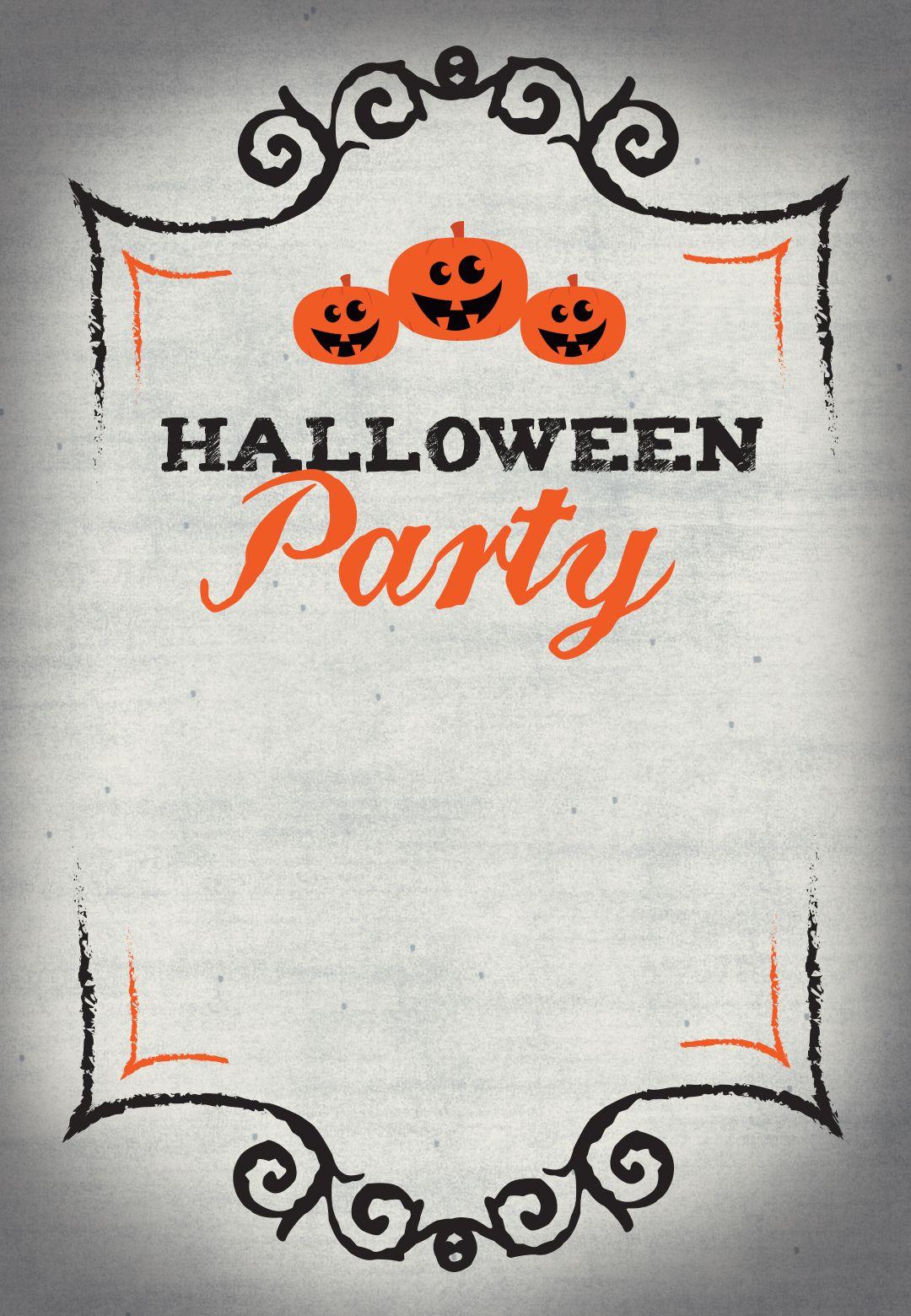 Halloween Party - Free Printable Halloween Invitation Template - Free Printable Halloween Invitations