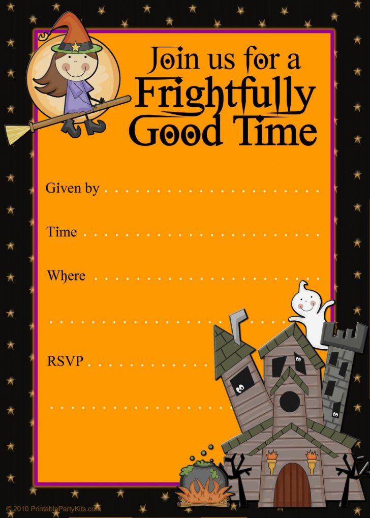 Free Halloween Birthday Invitation Templates Printable