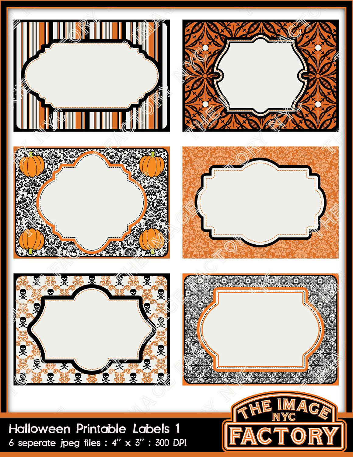 Halloween Printable Labels & Tags, For Gift Tags, Place Cards - Free Printable Halloween Place Cards