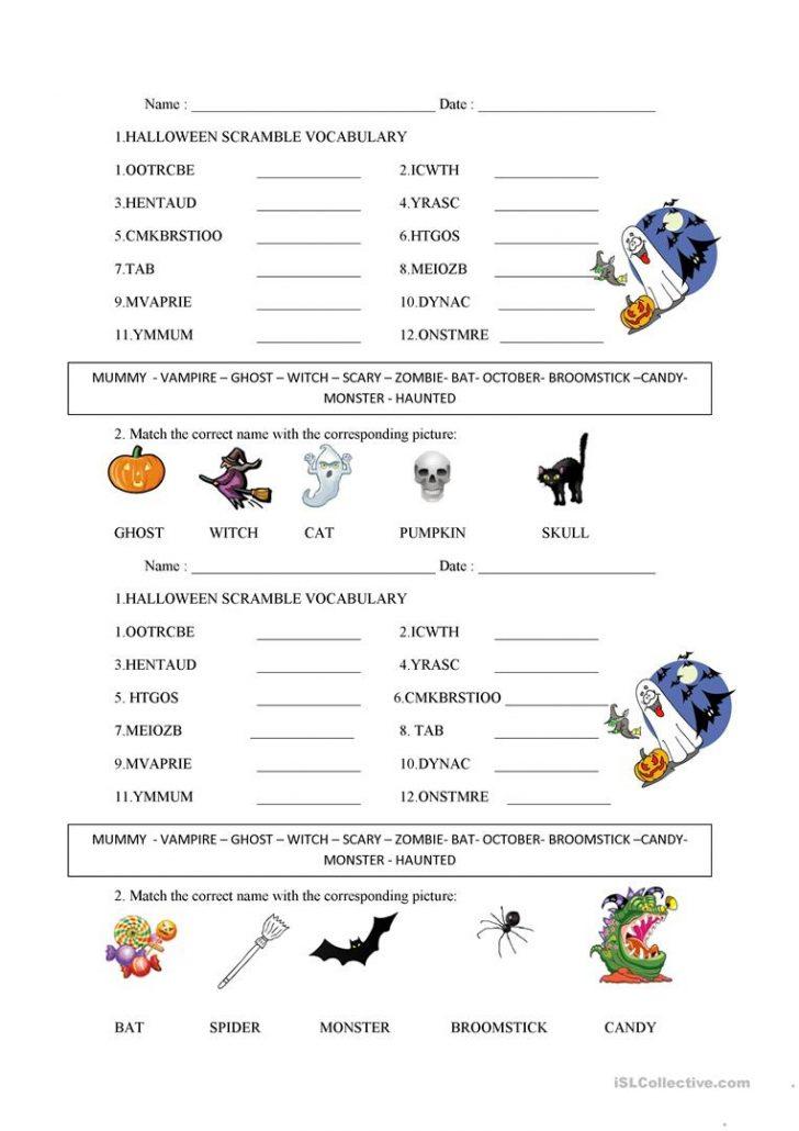 Free Printable Word Scramble Worksheets