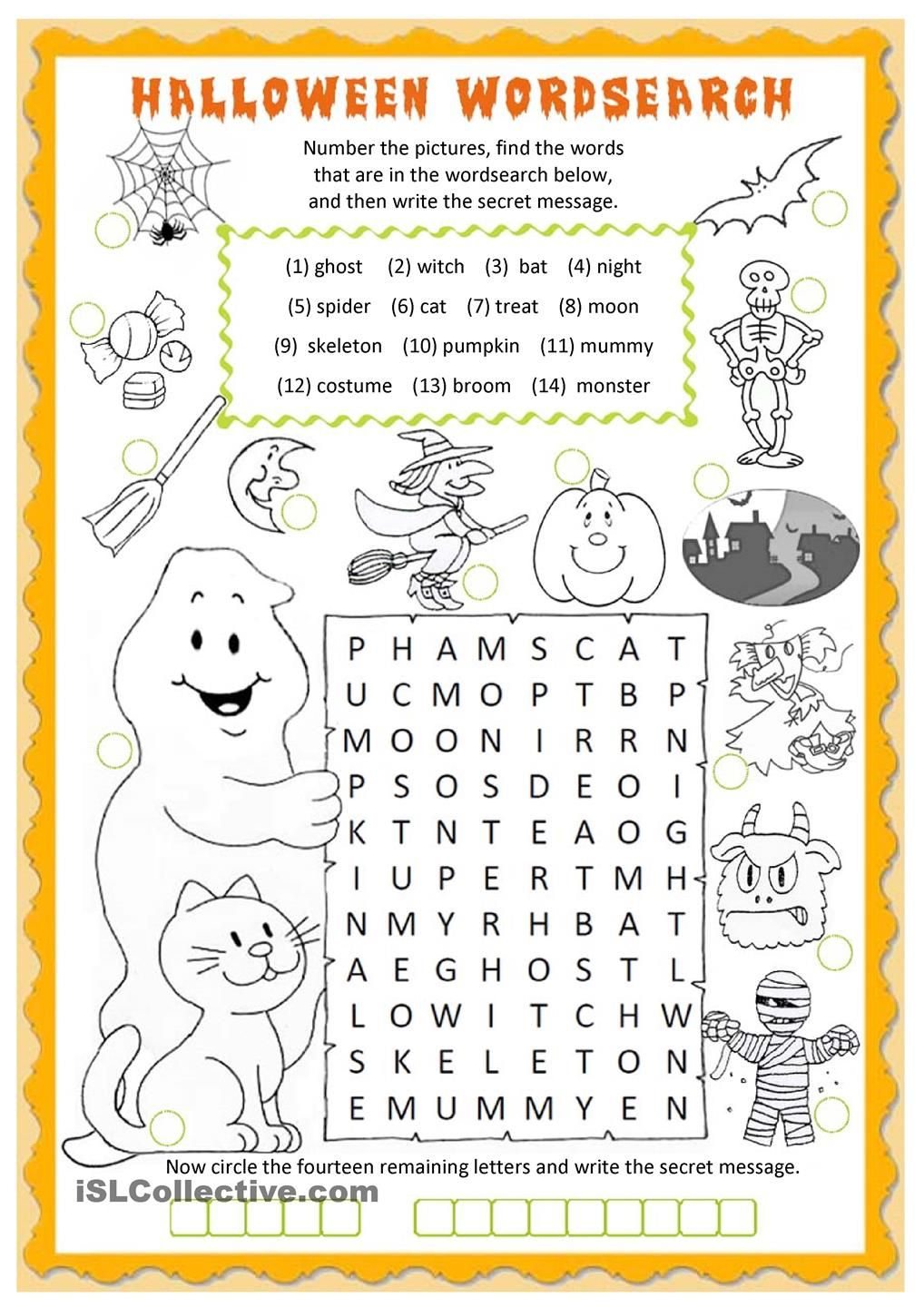 Halloween Wordsearch Worksheet - Free Esl Printable Worksheets Made - Free Printable Bat Writing Paper