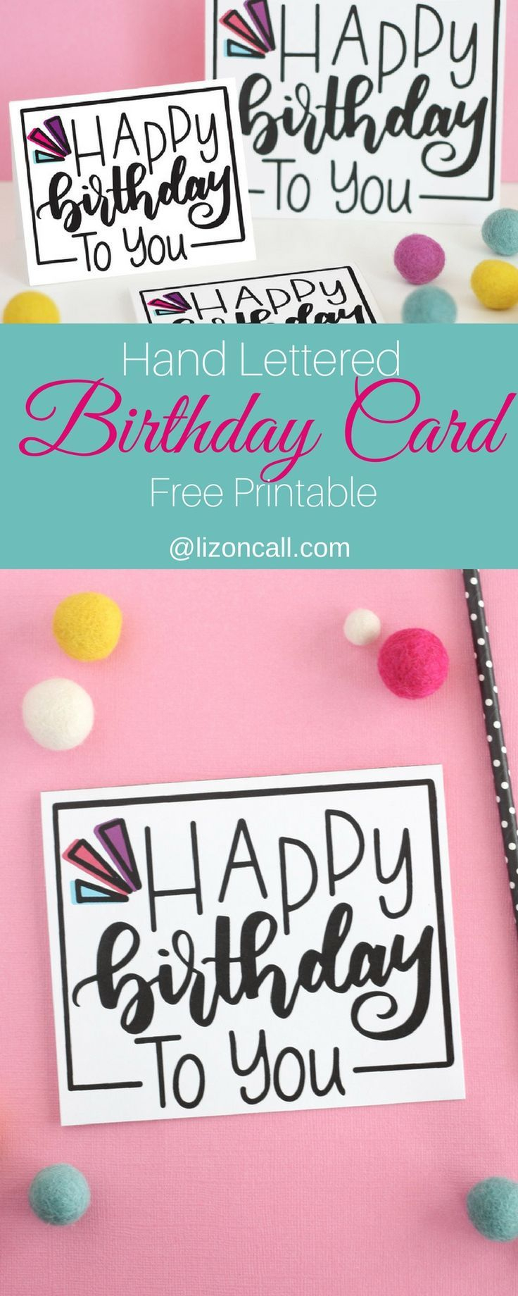 Hand Lettered Free Printable Birthday Card | Celebrating Birthdays - Free Printable Birthday Cards For Your Best Friend