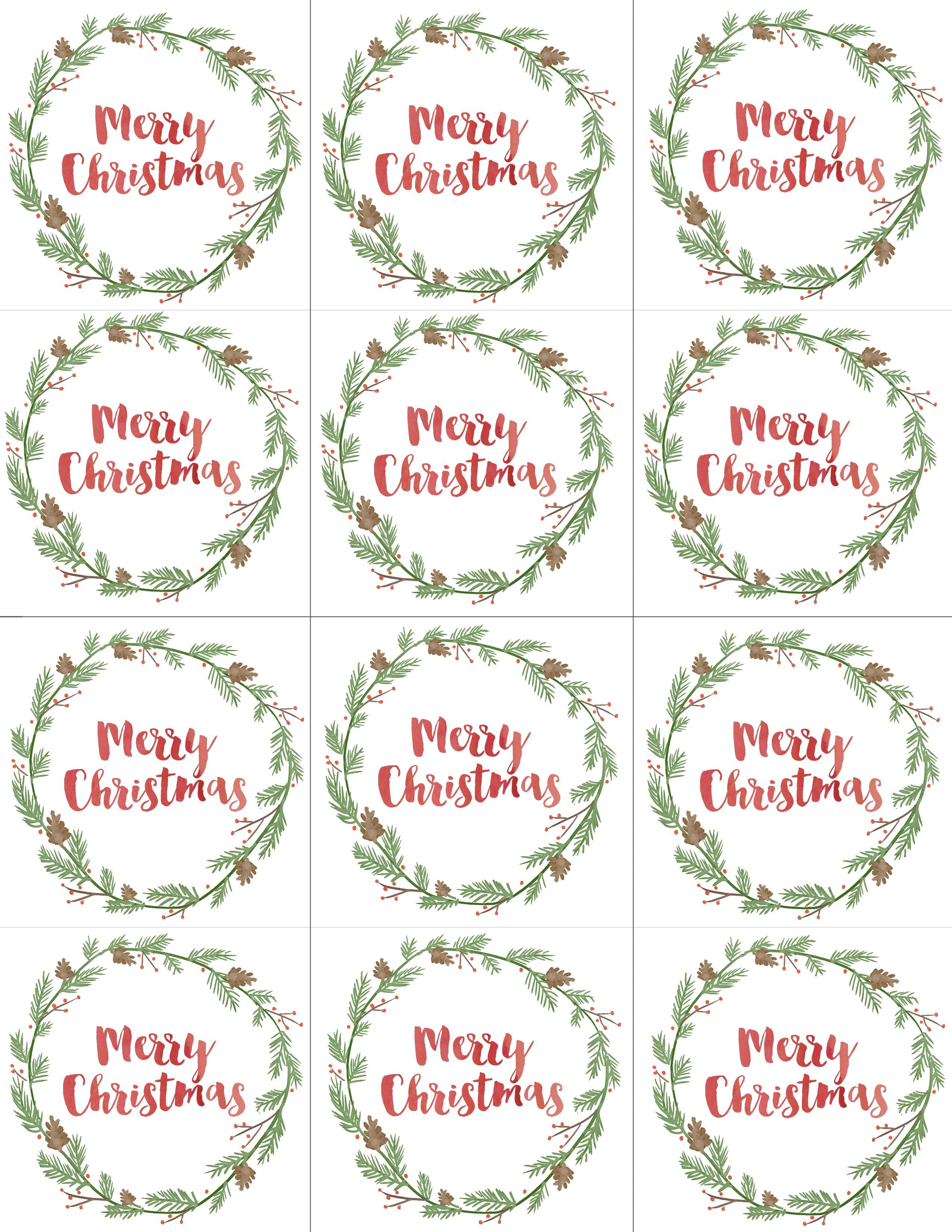 Hand Painted Gift Tags Free Printable | Christmas | Christmas Gift - Diy Christmas Gift Tags Free Printable