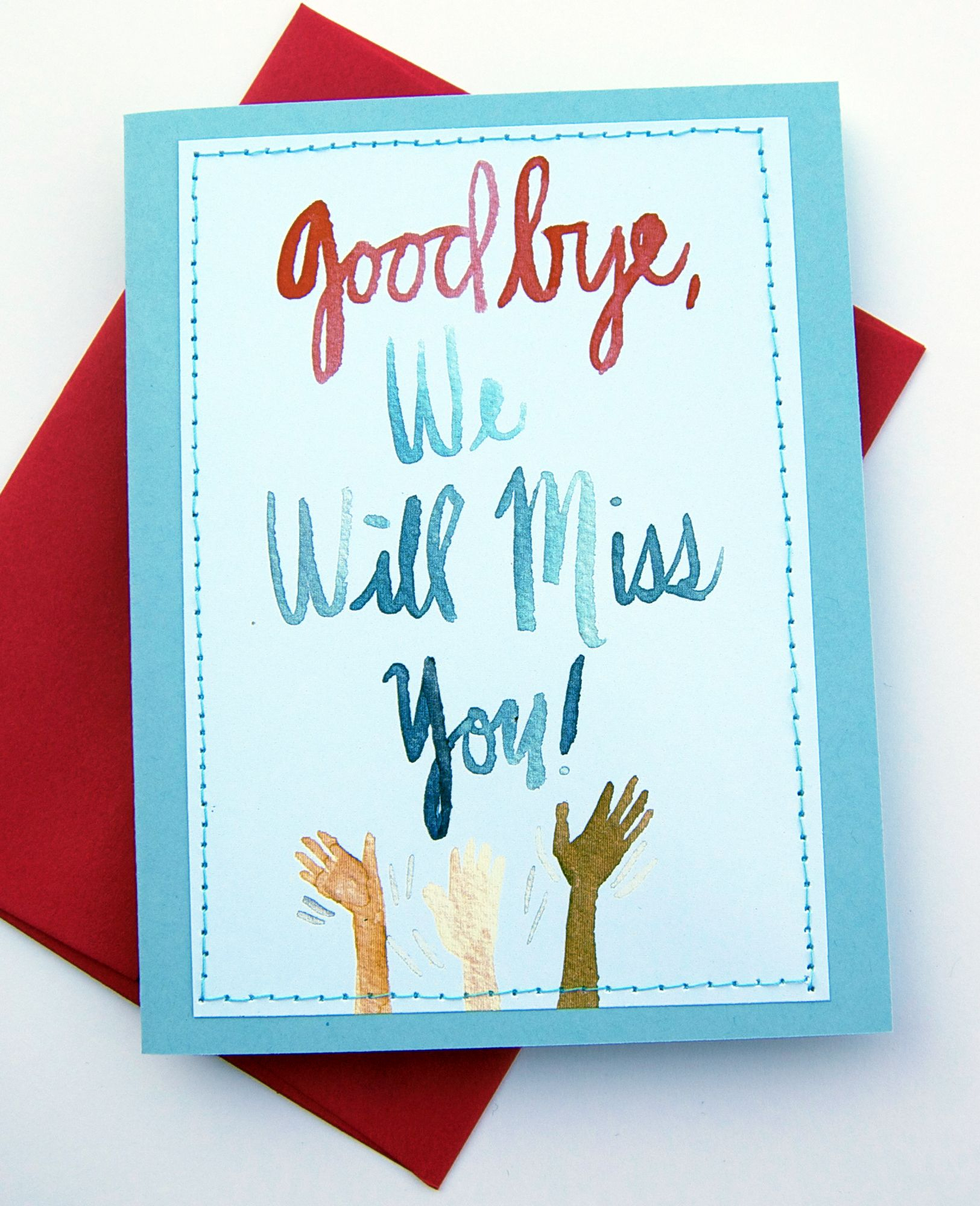 Handmade Card Design Blog. We Will Miss You Cards   Card Ideas - Free Printable We Will Miss You Greeting Cards