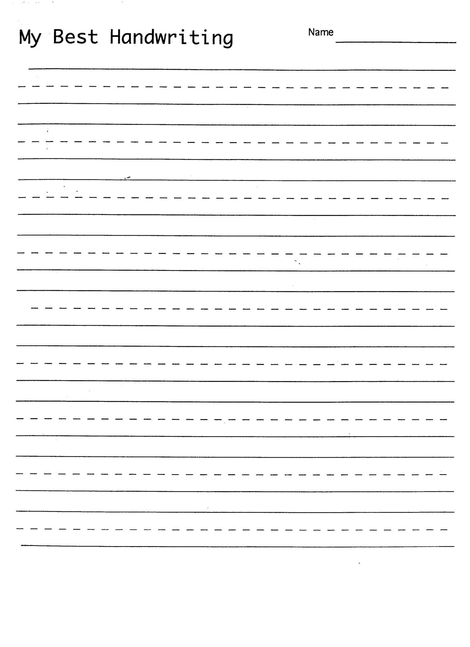 Handwriting Practice Sheet | Child Education | Handwriting Practice - Free Printable Handwriting Sheets For Kindergarten