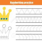 Handwriting Practice Sheet. Educational Children Game, Printable   Free Printable Worksheets Handwriting Practice