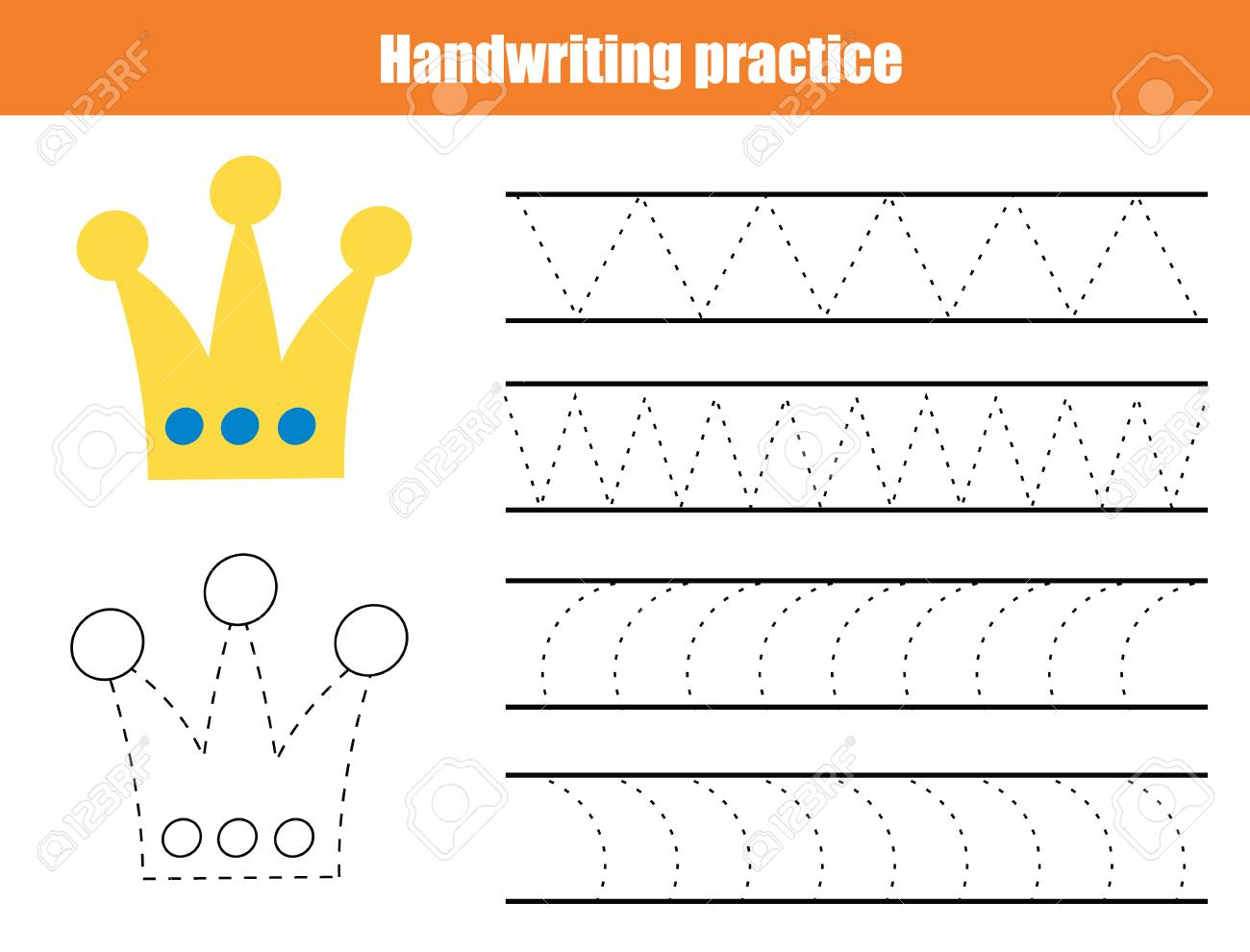 Handwriting Practice Sheet. Educational Children Game, Printable - Free Printable Worksheets Handwriting Practice