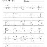 Handwriting Practice Worksheet   Free Kindergarten English Worksheet   Free Printable Worksheets Handwriting Practice