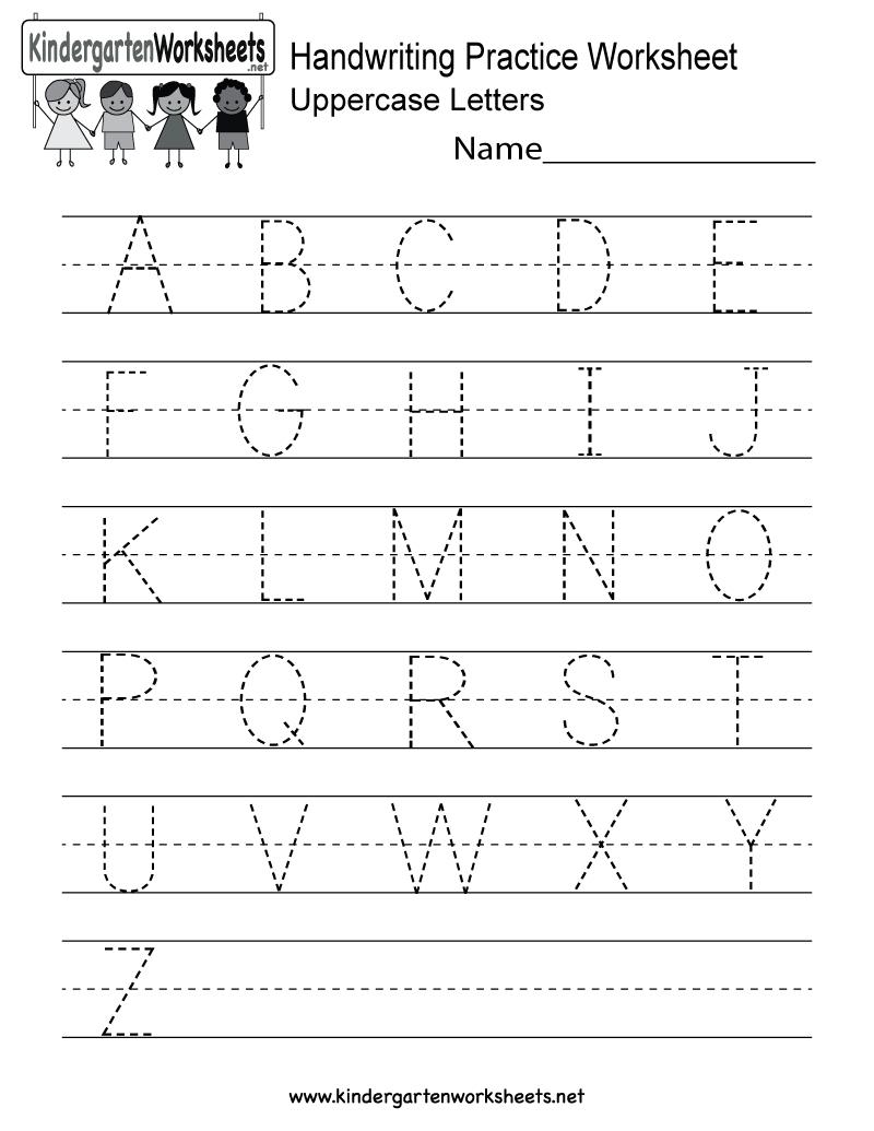 Handwriting Practice Worksheet - Free Kindergarten English Worksheet - Free Printable Worksheets Handwriting Practice