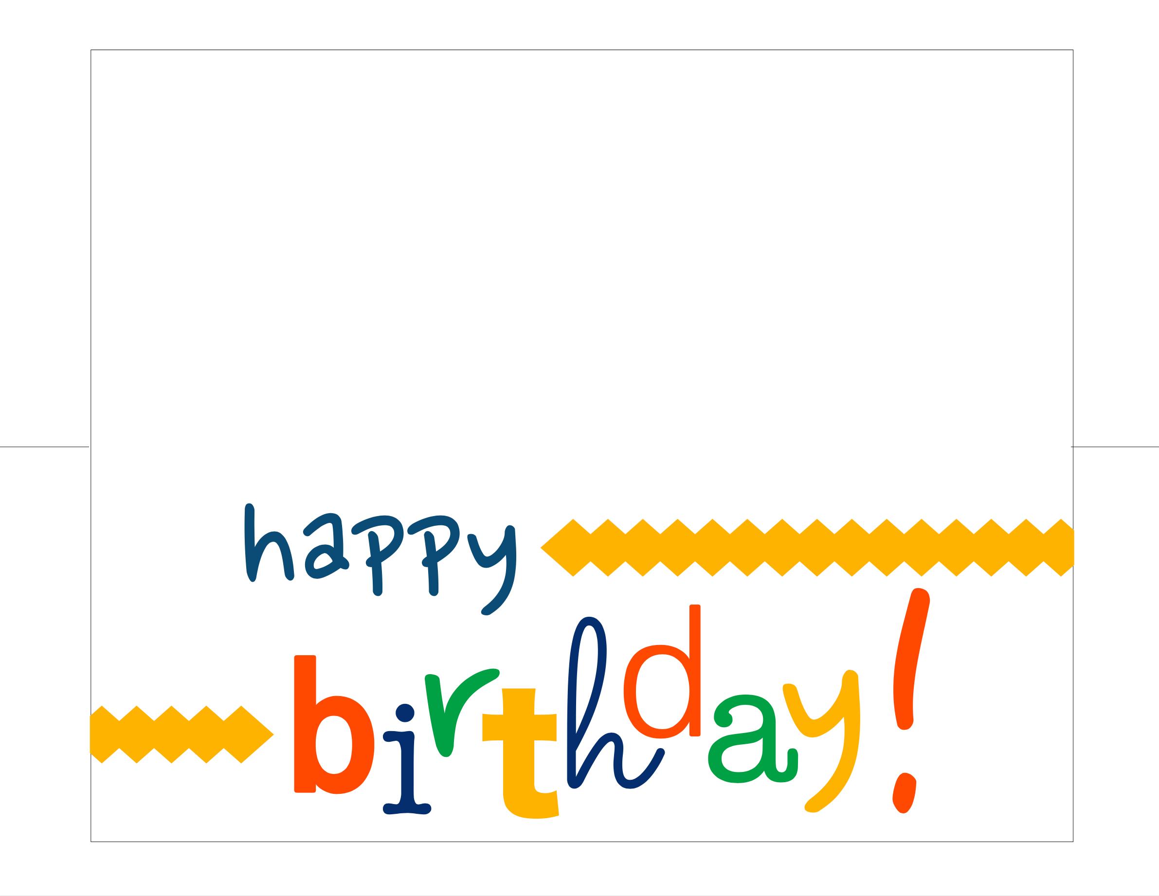 Happy Birthday Card Free Printable - - Happy Birthday Free Printable