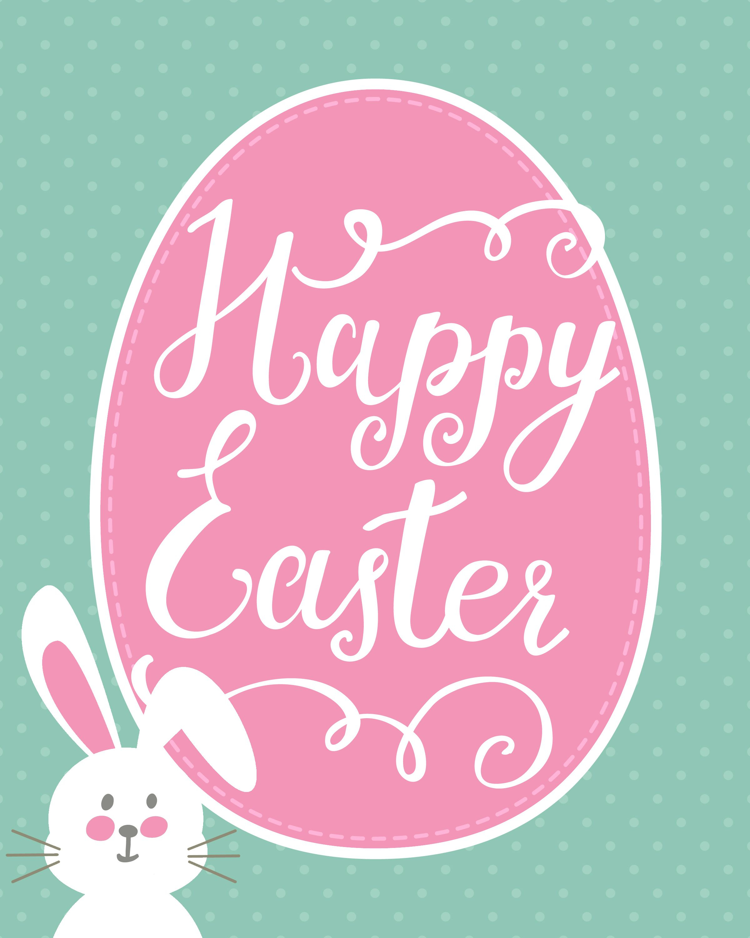 Happy Easter Bunny Printable + Easter Printable Blog Hop | Holidays - Printable Easter Greeting Cards Free