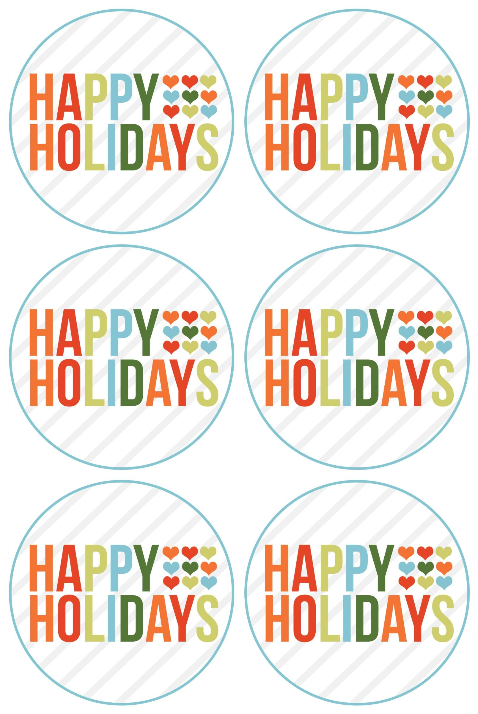 Happy Holidays Free Printable (Rejoin Happy Holidays And Merry - Free Printable Happy Holidays Gift Tags