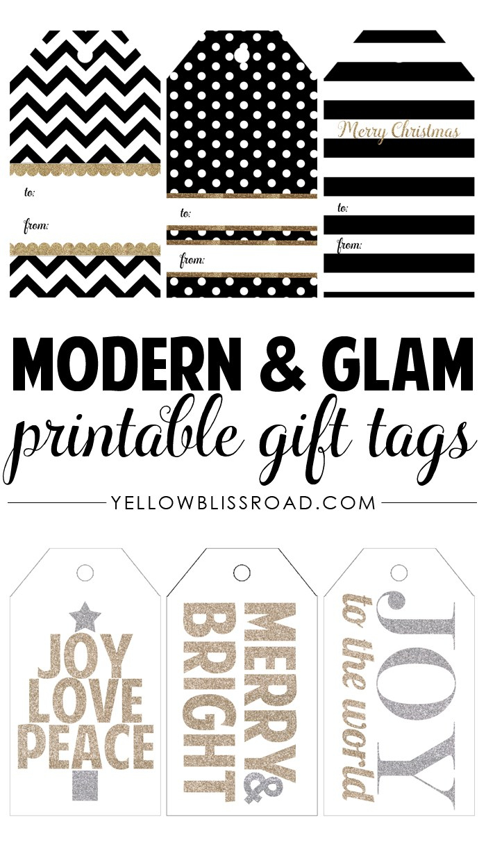 Happy Holidays: Modern Printable Gift Tag Set - Tatertots And Jello - Free Printable To From Gift Tags