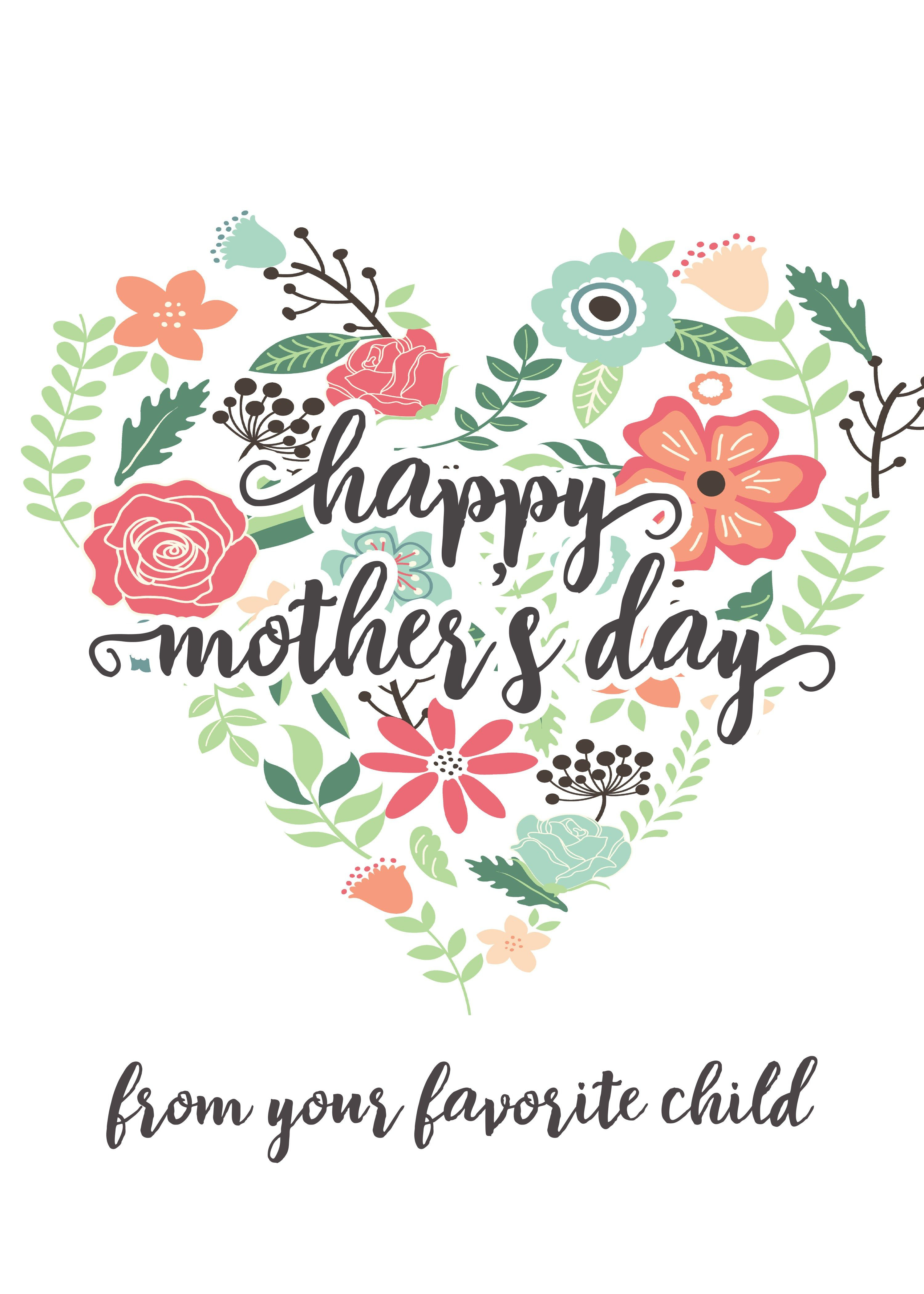 Happy Mothers Day Messages Free Printable Mothers Day Cards - Free Printable Mothers Day Card From Dog