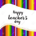 Happy Teacher's Day Greeting Card Template Design Royalty Free   Free Printable Teacher's Day Greeting Cards