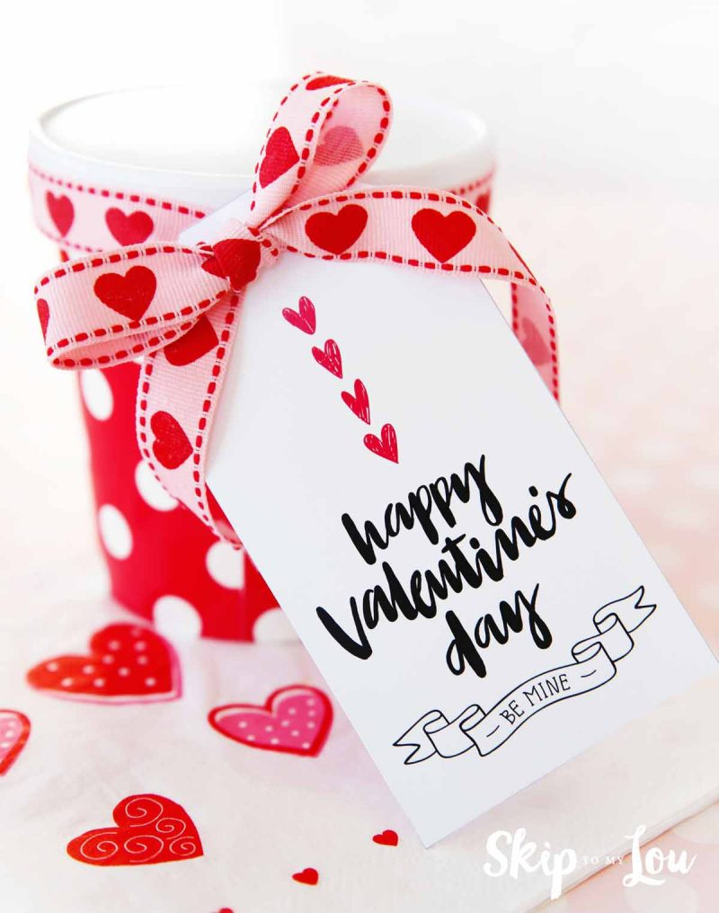 Happy Valentine's Day Gift Tags   Skip To My Lou - Free Printable Valentine Tags
