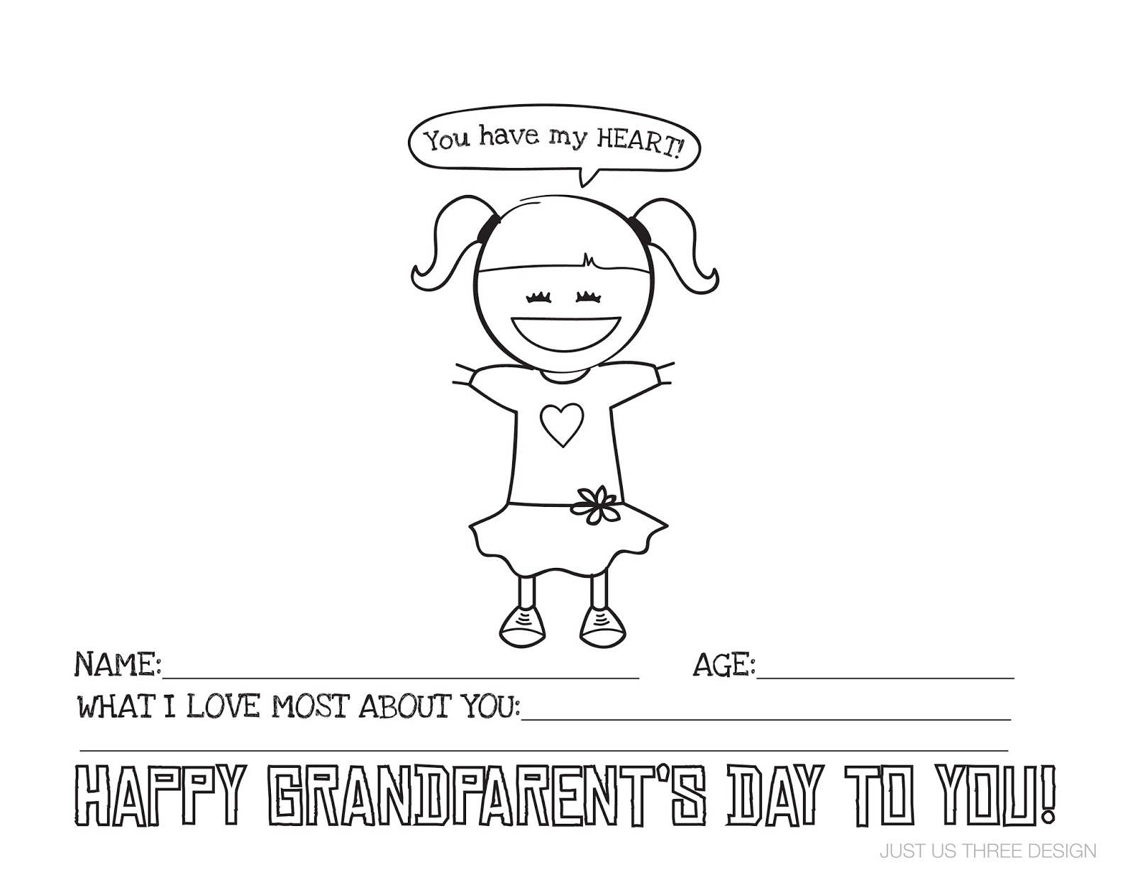 Harding Happenings: {Grandparents Day Printable} - Grandparents Day Cards Printable Free