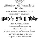 Harry Bpotter Binvite Mockblog Trend Free Harry Potter Invitation   Harry Potter Birthday Invitations Free Printable
